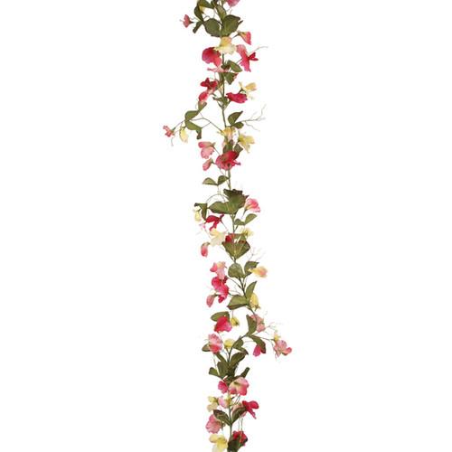 Sweetpea Garland Pink / Lemon 180cm