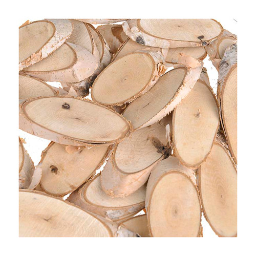Birch Wood Slices Assorted Sizes 6-9cm in a Box x 30