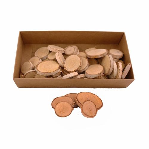 Birch Wood Slices Round Assorted Sizes 2-4cm Box of 60