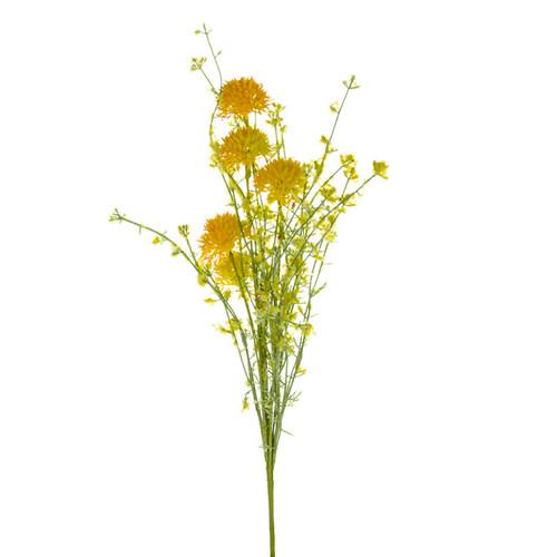Wild Cornflower Stem 48cm Yellow