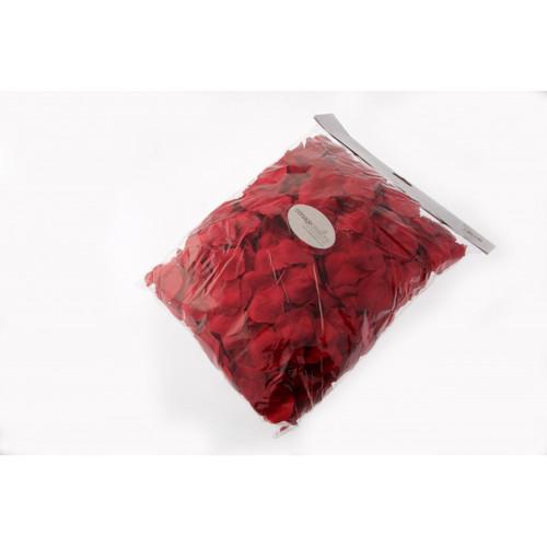 Faux Silk Rose Petals Bulk Bag of 1000 Red