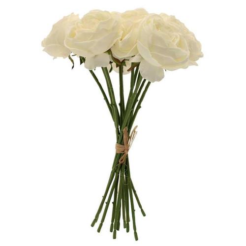 Tea Rose Bunch x 12 Cream 42cm