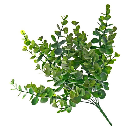 Eucalyptus Bush Green and Grey Artificial 35cm