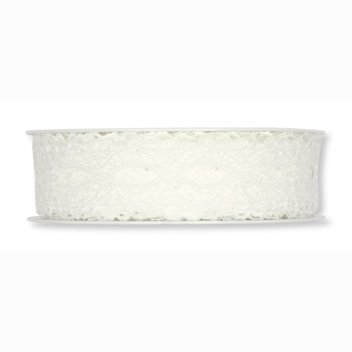 Lace Ivory Embroidery Roll 2.5cm Wide x 15m