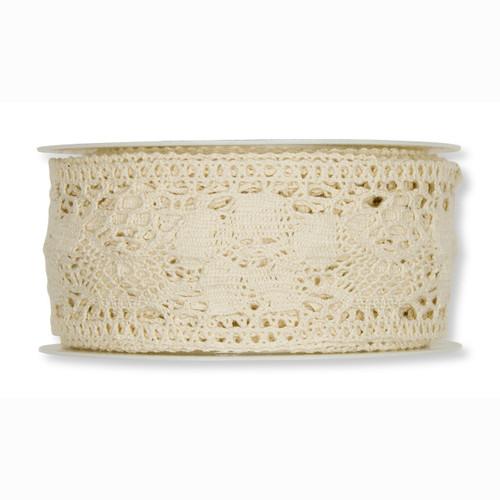 Lace Cotton Cream 4cm Wide x 5m Roll