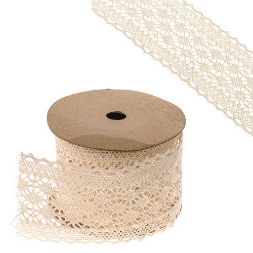 Lace Ribbon Ivory 6cm Wide on a 5m Roll