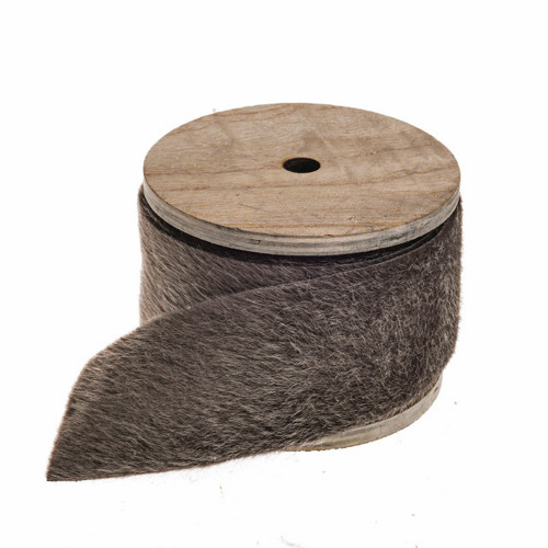 Faux Fur Ribbon Trim Grey 45mm Wide on a 4m Roll