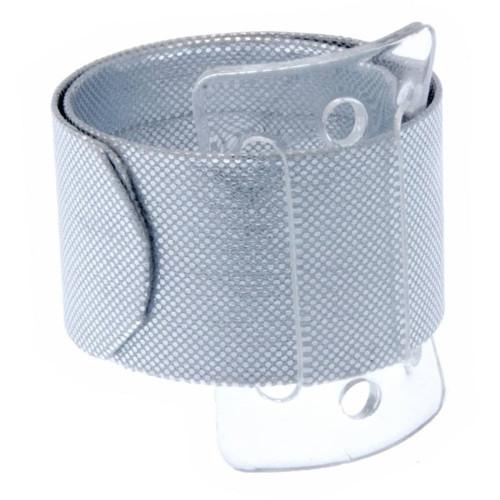 Snap/Wrap Wristlet Corsage Bracelet Silver 25mm x 2