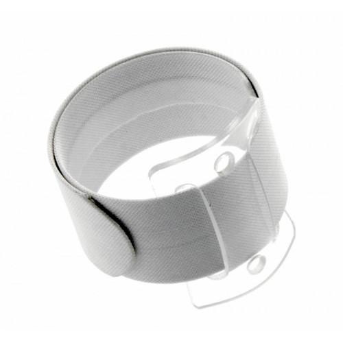 Snap/Wrap Wristlet Corsage Bracelet White 25mm x 2