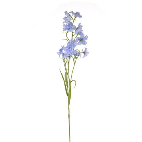 Delphinium Artificial Silk 76cm Pack of 3 Stems Pale Blue
