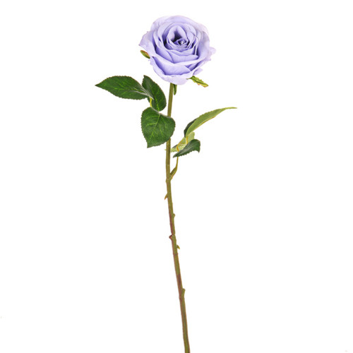Rose Bud Artificial 44cm Lilac Pack of 3 Stems