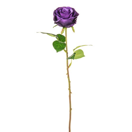 Rose Bud Artificial 44cm Purple Pack of 3 Stems
