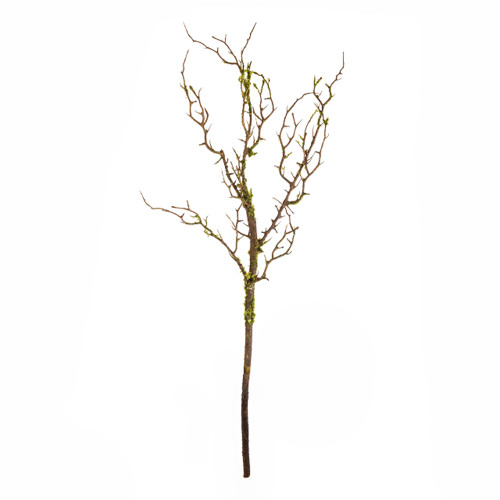 Dark Green Twig Branch With Moss Artificial 75cm