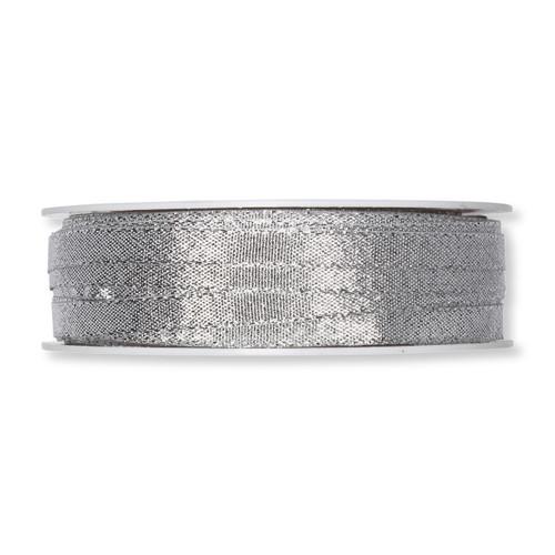 Ribbon Lurex Matt Silver Spark 6mm Wide on a Full 50m Roll