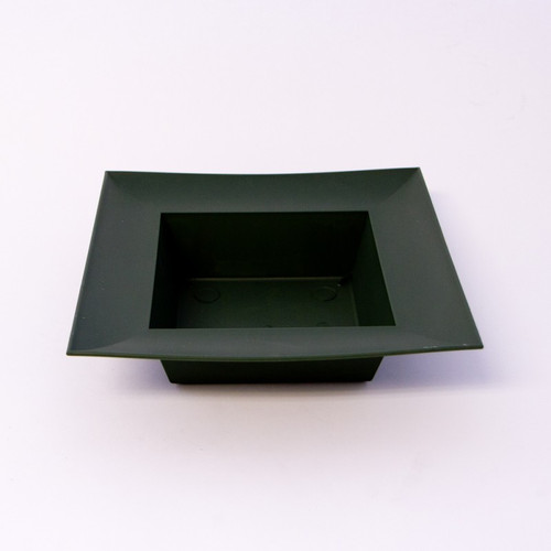 Square Designer Bowl 22 x 22 x 5cm Green