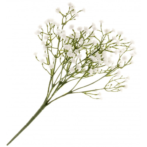 Gypsophila Spray 5 Stems White and Green Artificial 30cm