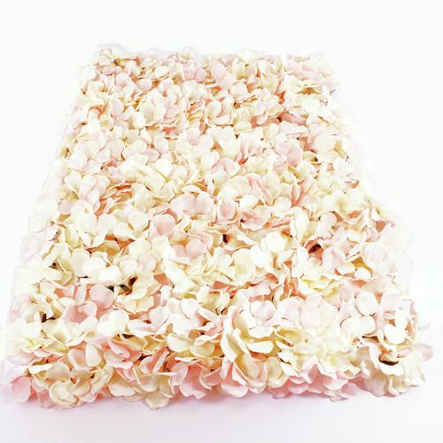 Flower Wall Panel 40cm x 60cm Pink Hydrangea