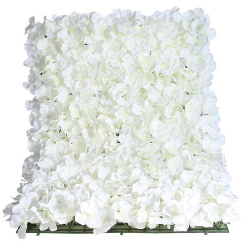 Flower Wall Panel 40cm x 60cm Cream Hydrangea
