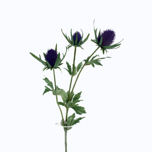 Thistle Spray Artificial 66cm Purple
