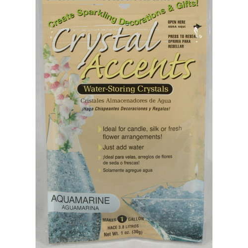 Crystal Accents Aquamarine