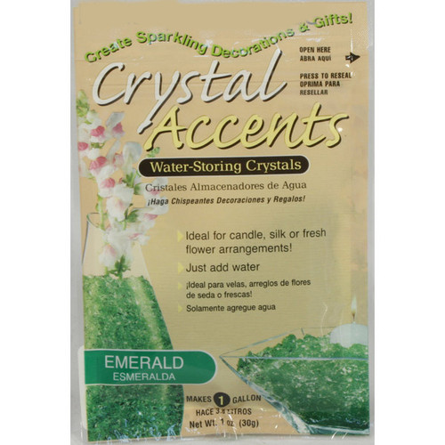 Crystal Accents Emerald / Green