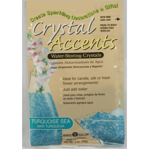 Crystal Accents Turquoise Sea