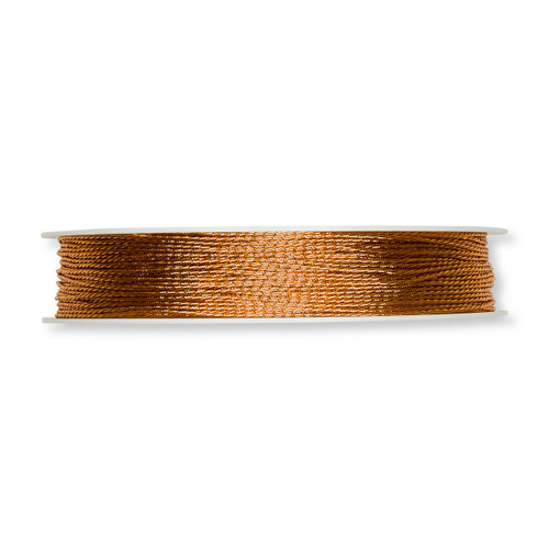 Glitter Cord Copper 1mm Diameter on a 100m Roll
