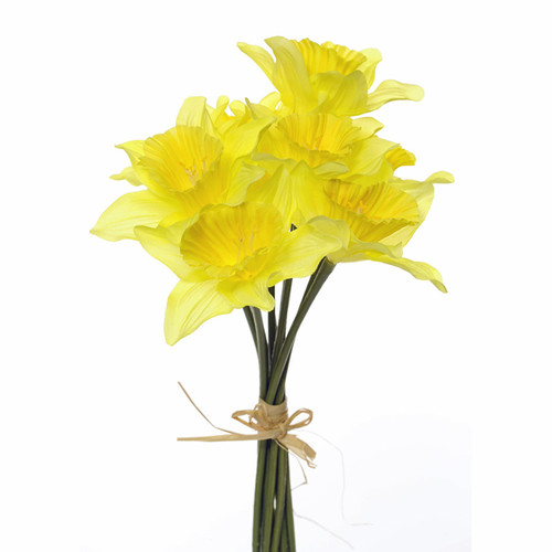 Daffodils 9 Stem Bunch Artificial 33cm