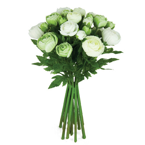 Ranunculus Posy 33cm Cream Green