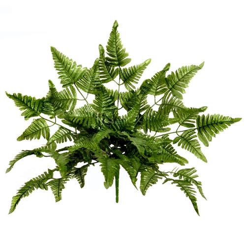 Leather Leaf Fern Artificial Plant 50cm