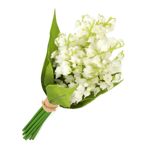 Artificial Silk Lily of the Valley Bundle White 25cm/10 Inches