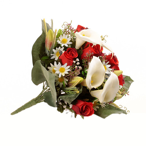 Mixed Bouquet Calla Rose 40cm Red