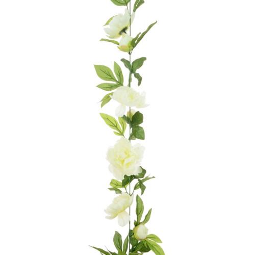Peony Garland 180cm Cream White