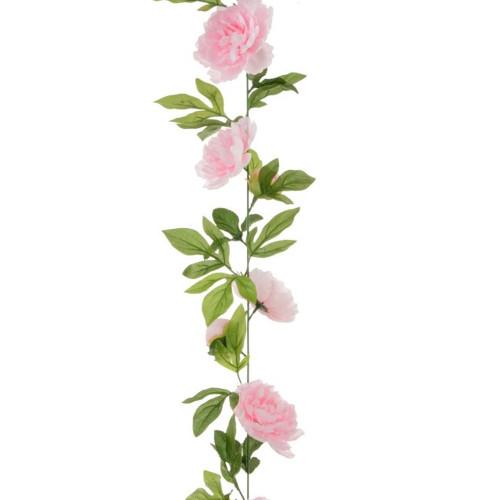 Peony Garland 180cm Light Pink