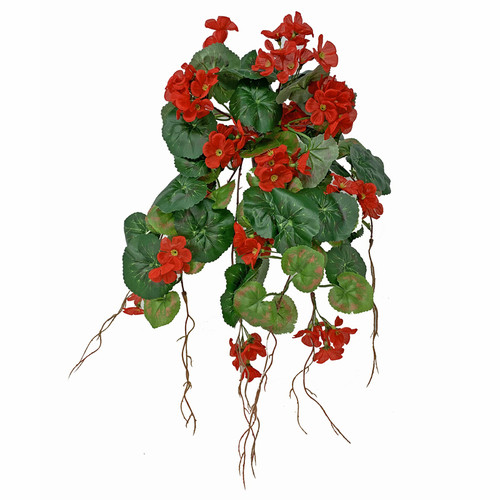 Artificial silk Geranium Bush Trailing 30cm Red