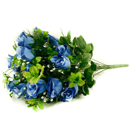 Rose Gyp Bunch 24 Stems Roses 55cm Blue