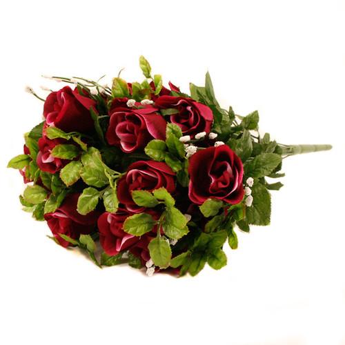Rose Gyp Bunch 24 Stems Roses 55cm Burgundy / Wine