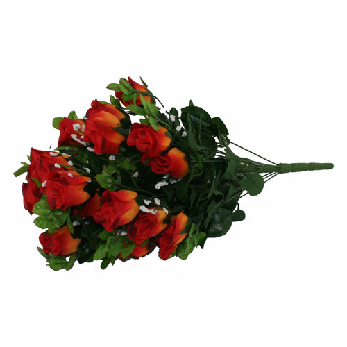 Rose Gyp Bunch 24 Stems Roses 55cm Burnt Orange