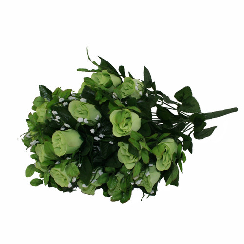 Rose Gyp Bunch 24 Stems Roses 55cm Lime Green Artificial