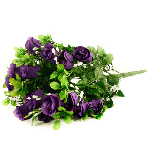 Rose Gyp Bunch 24 Stems Roses 55cm Purple