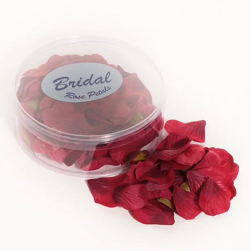 Silk Rose Petals Burgundy