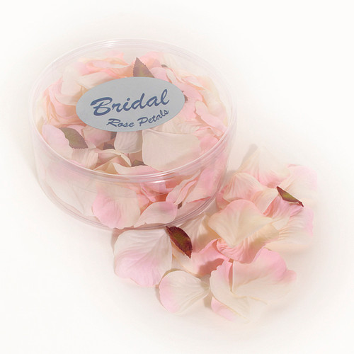 Silk Rose Petals Champagne / Pink