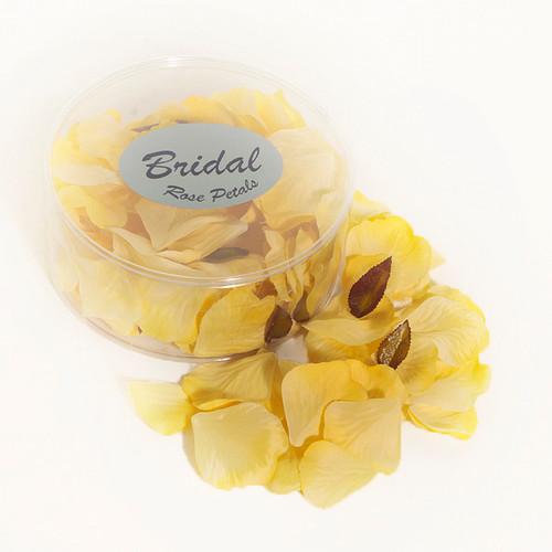 Silk Rose Petals Golden Yellow