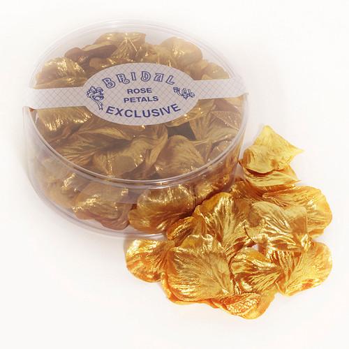Silk Rose Petals Metallic Gold