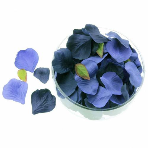 Silk Rose Petals Navy / Royal Blue