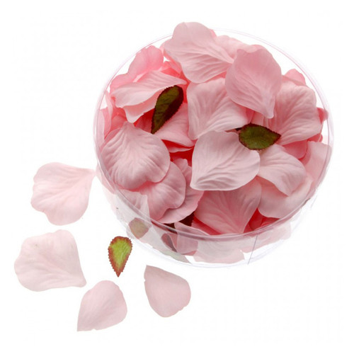 Artificial Silk Rose Petals Pale Salmon Pink x 164