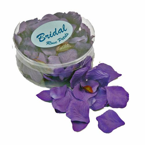 Silk Rose Petals Purple