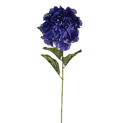 Hydrangea Stem Artificial Silk 72cm Stem Dark Blue