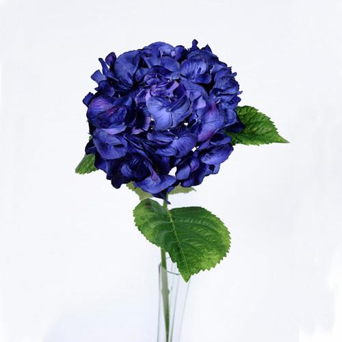 Hydrangea Dark Blue 70cm/27.5 Inch Stem