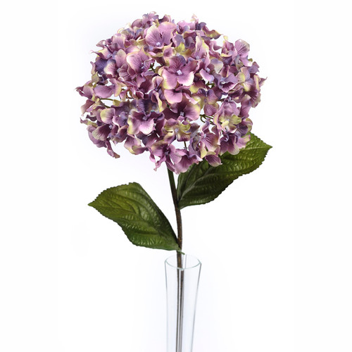 Hydrangea Stem Vintage Purple 68cm